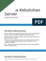 Analisa Kebutuhan Server Pptx