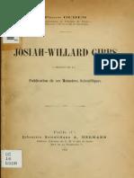 Josiah Willard Gib 00 Duh Eu of t