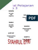 Jadwal Sd 11