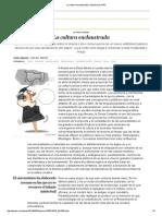 La Cultura Enclaustrada _ Opinión _ EL PAÍS