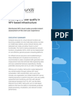 Ensuring end-user quality in NFV-based infrastructure