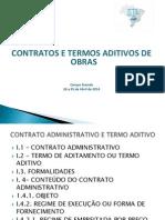 Contratos e Aditivos de Obras