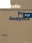 Aristotle - Prior Analytics (Hackett, 1989)
