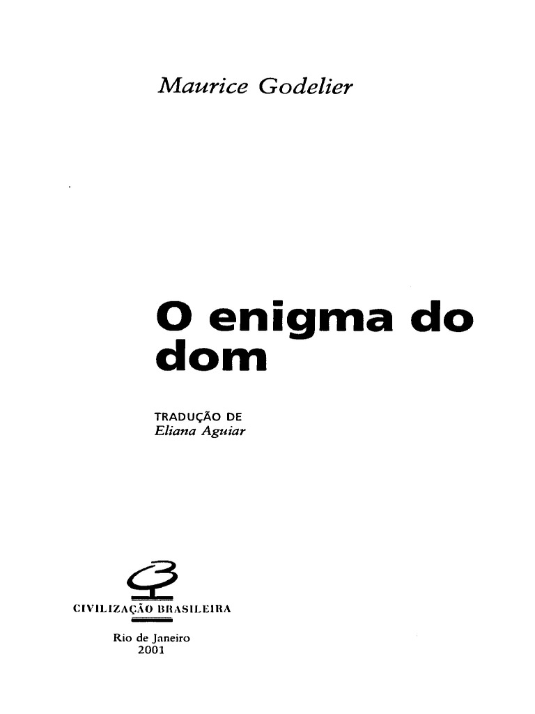 Godelier o enigma do dom fandeluxe Choice Image