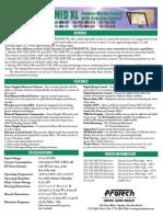 Protection Technologies SDI76XLMWVD Data Sheet