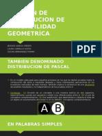 Funcione de Distribucion de Probabilidad Geometríca