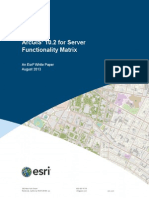 Arcgis10.2 Server Functionality Matrix