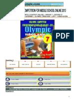 thi Olympic tiếng Anh lớp 7 vòng huyện.doc