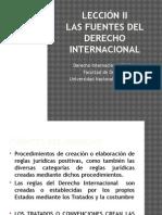 LECCION2. Las Fuentes de derecho Internacional