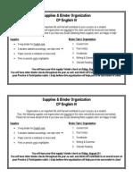 supplies & binder organization cp e4