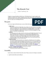 The Ronchi Test