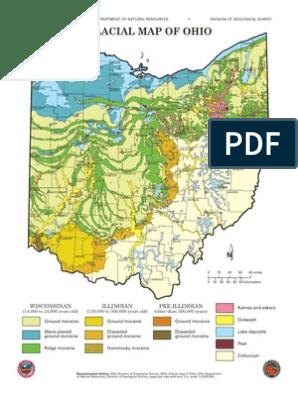 Glacier Map Of Ohio Glacial Map Of Ohio