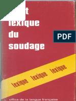 Lexique de Soudage