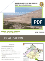 Geomorfologia Del Flanco Occidental de La Cordillera De
