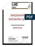 Getting Started With Oracle Data Miner