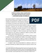 Convocatoria Libro de Psicología Social contemporánea en México