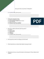 Questionnaire CB