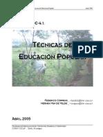 principales técnicas de la educación popular