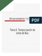 Temporizacion de Ciclo de Bus