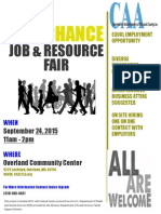 Fall Job Fair Sept 2015