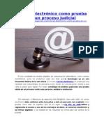 Correo Electrónico Como Prueba en Un Proceso Judicial