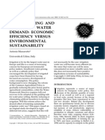 Environmental Policy and Governance Volume 13 issue 2 2003 [doi 10.1002%2Feet.316] Antonio Massarutto -- Water pricing and irrigation water demand- economic efficiency versus environmental sust (1).pdf