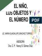 el niño los objetos y el número
