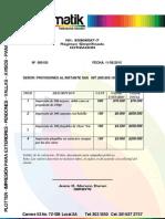 Cotizacion ProvisionesFDSFSD
