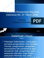Pekerjaan Kefarmasian PP No. 51 Thn 2009