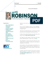 Councillor Robinson's Summer 2015 Update
