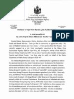 Testimony of Matthew Cashman, Maine DEA on use of EBT cards in drug crimes