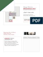 Design Division MFA Exhibition 2010 April 17