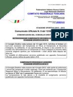 Comunicato CRT Gironi e Coppe