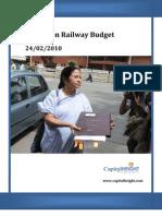 Railway Budget 2010