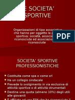 Le società sportive