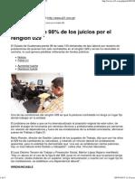 Estado Pierde 98% de Los Juicios Por El Renglón 029