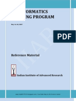 Bioinfo Training Material