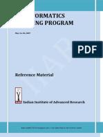 Bioinfo Training Material