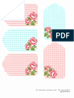 Free Floral Printable Gingham Tags FPTFY 1