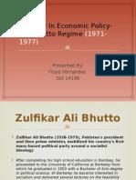 Bhutto Era- Seminar Ppt