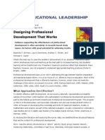 designing professional development that works