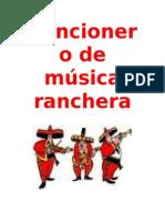 Cancionero de Musica Ranchera