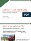 South Pasadena - Library Tax Measure