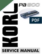 Korg Pa800 Service Manual