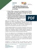 20150810 NP Dos empresas peruanas son seleccionados por Endeavor en el Perú final