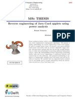 Reverse Engineering of Java Card Applets Using Power Analysis