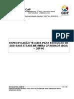 SUB-BASE OU BASE DE BRITA GRADUADA