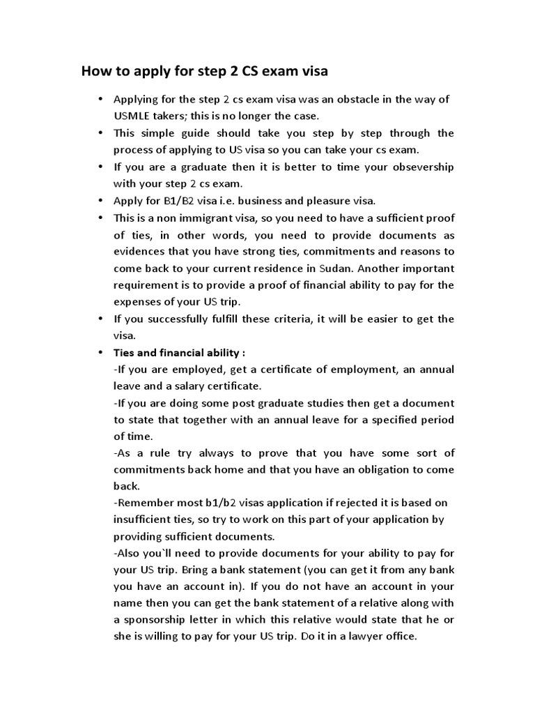 How to Apply for Step 2 Cs Exam Visa | Travel Visa | Test (Assessment)