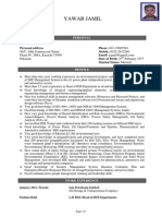 Sample Resume for HSE Supervisor
