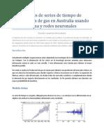 ForecastAná lisis de series de tiempo de  Produccio n de gás en Austráliá usándo  Arima y redes neuronáles